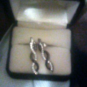 925 diamond earrings